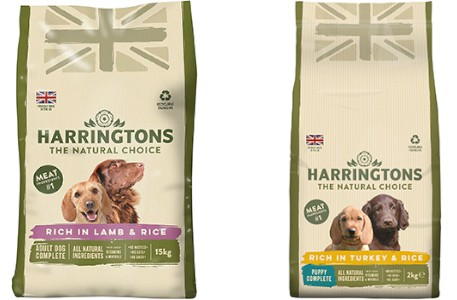 Harringtons puppy food range