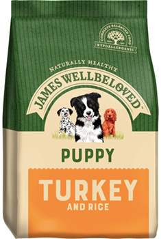 James Well Beloved turkey and rice puppy food