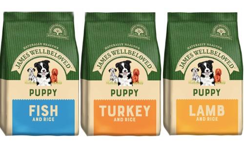 James Well Beloved puppy food range