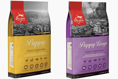 Orijen Puppy Food range