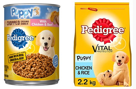 Pedigree puppy food range