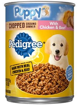 Pedigree wet puppy food