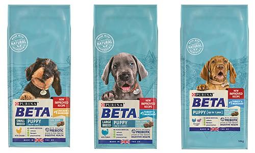 Purina Beta puppy food range