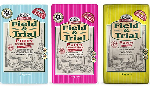 Skinners Field and Trial puppy food range