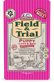 Skinners Field and Trial puppy lamb and rice