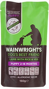 Wainwright's lamb and rice puppy food