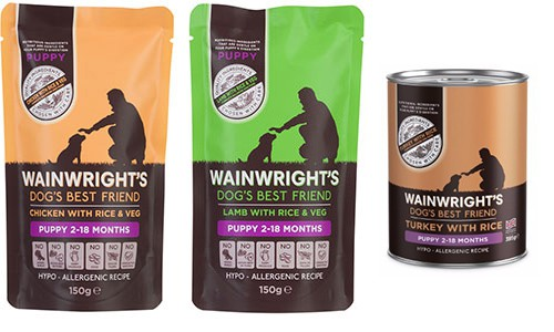 Wainwright's puppy food range