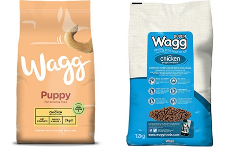 wagg puppy food range
