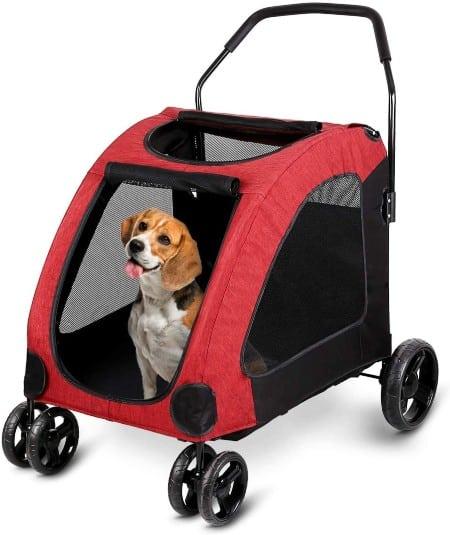 Amzdeal Large Dog Stroller