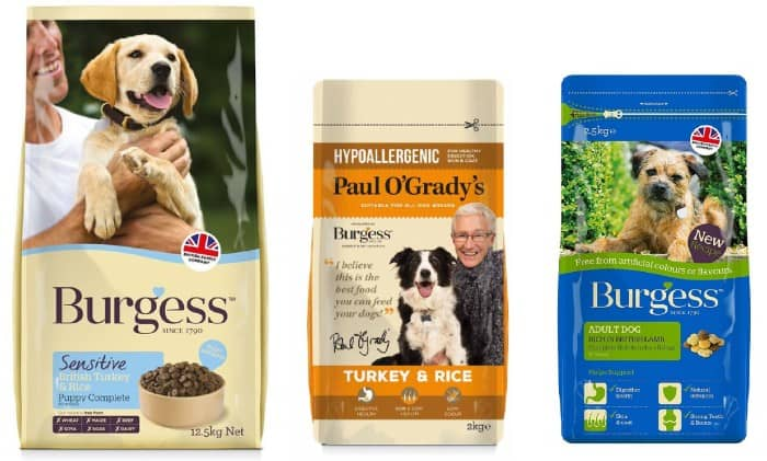 Burgess Dog Food variants