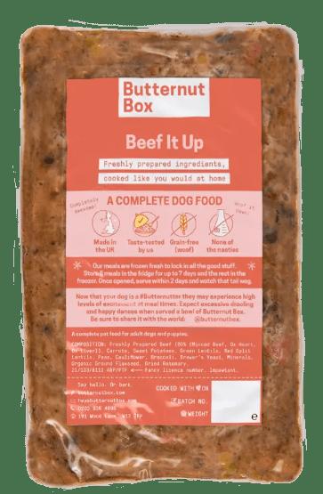 Butternut Box Dog Food pack