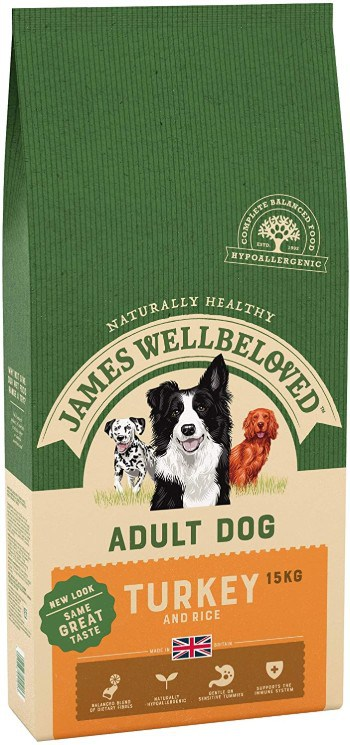 James Wellbeloved Complete Dry Adult Dog Food Turkey and Rice