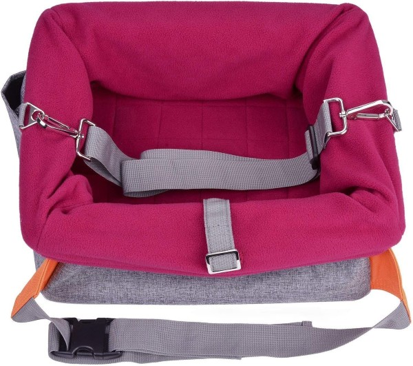 Legendog Dog Car Seat in maroon