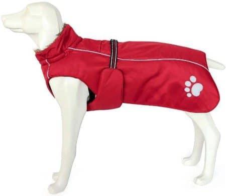 Morezi Dog Coats Waterproof, Dog Winter Coat with Padded Fleece Lining