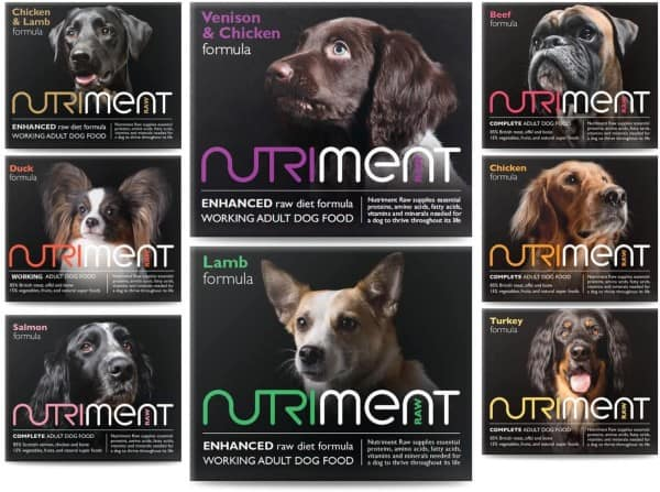 Variety of Nutriment Dog Food