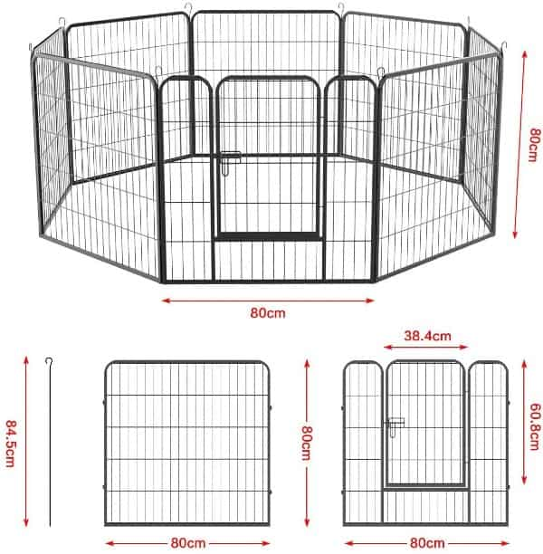Yaheetech 8 Panel Puppy Dog Pen