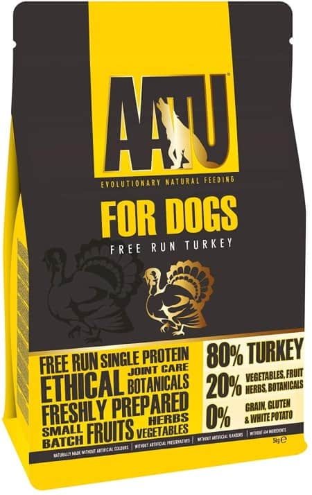 AATU dog food variant in pack