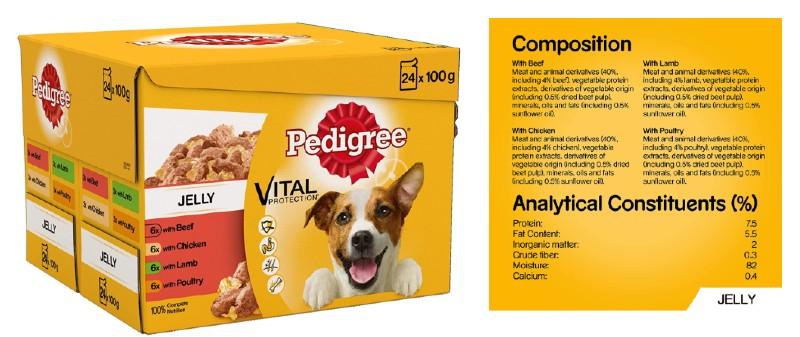 Pedigree dog food jelly variant