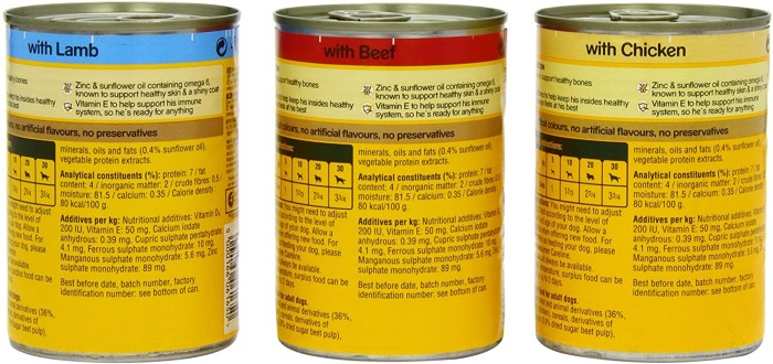 Pedigree dog food meaty meal in jelly variants