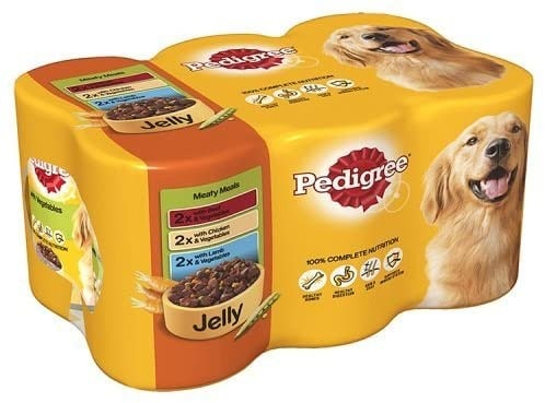 Pedigree dog food meaty meal in jelly