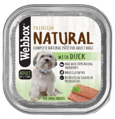 Webbox Natural Adult Duck Pate Wet Dog Food variant