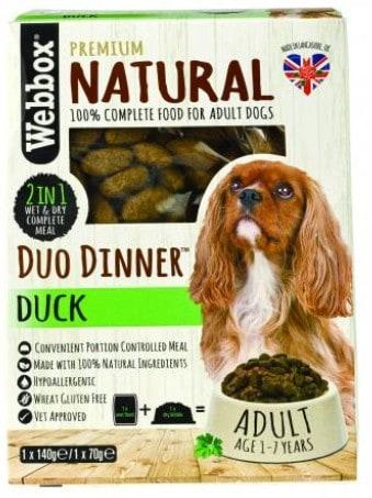 Webbox Naturals Duck Duo Dinner Wet & Dry Dog Food