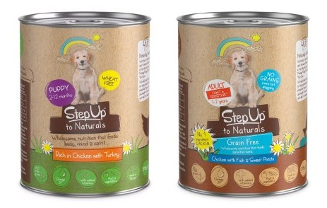 step up to naturals dog food variants in can
