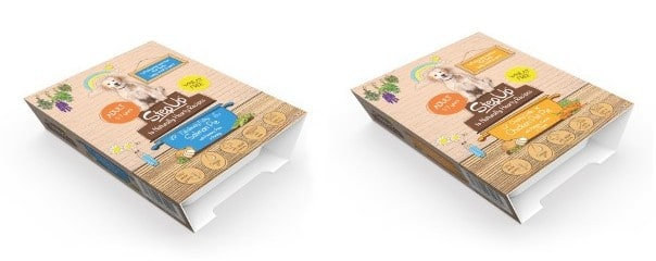 step up to naturals dog food pie variants