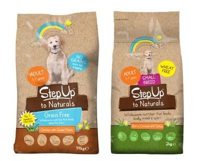 step up to naturals dog food variants