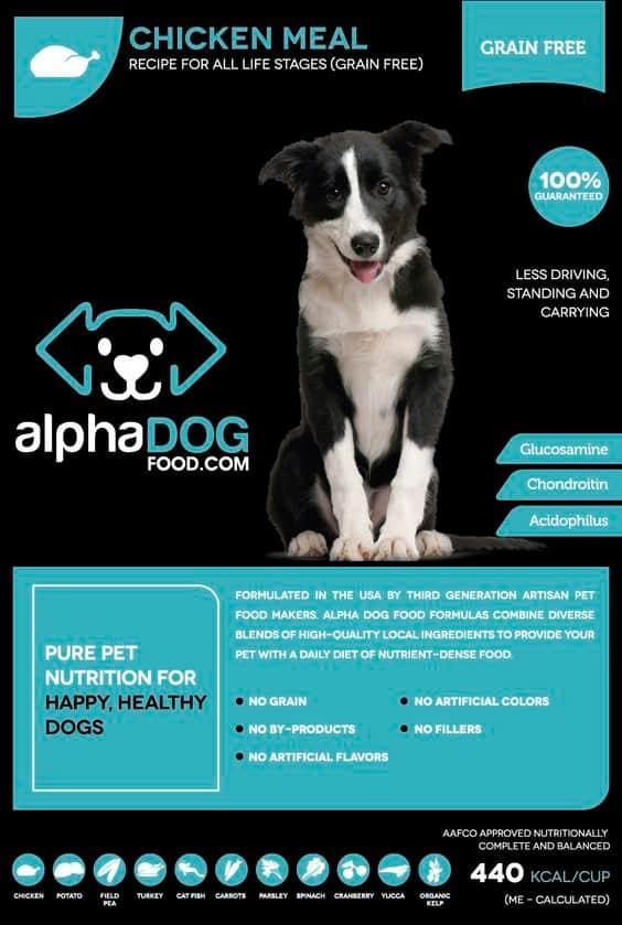 Alpha Dog Food Chicken meal variant