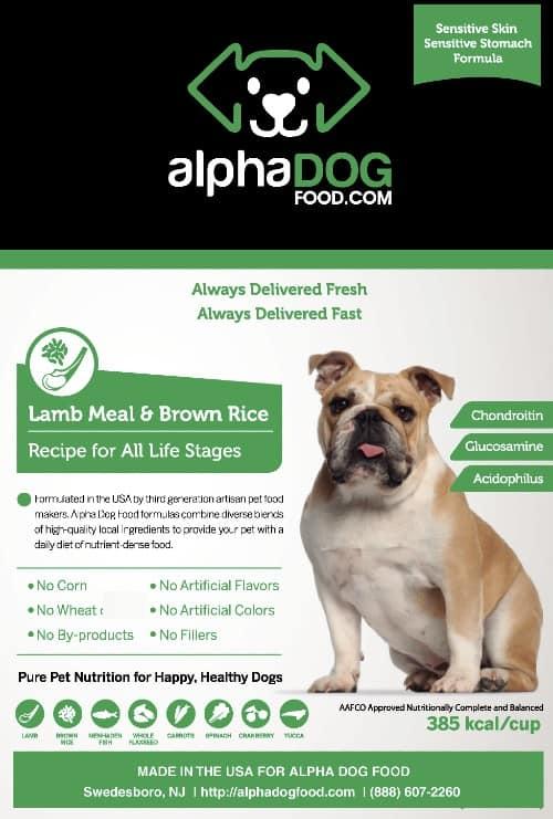 Alpha Dog Food Lamb Meal Dog Food variant