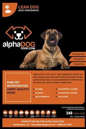 Alpha Dog Food Lean Dog Adult Maintenance variant