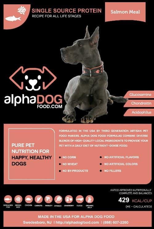 Alpha Dog Food Salmon meal variant