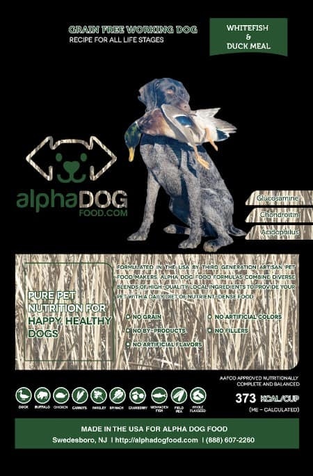 Alpha Dog Food Whitefish Grain Free Hunting Dog Food variant