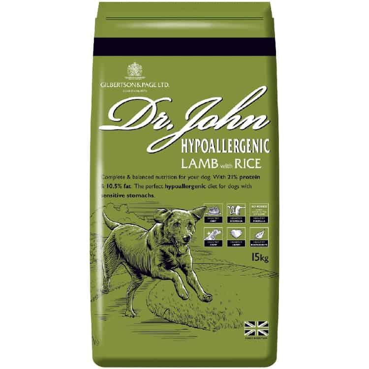 Dr John dog food Hypoallergenic variant