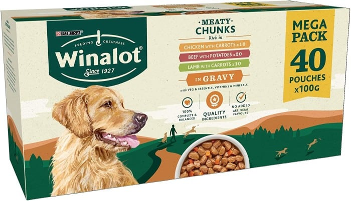 WINALOT Dog Food Pouches Mixed in Gravy