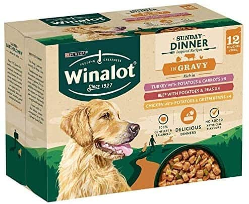 WINALOT Dog Sunday Dinner Dog Pouches in Gravy
