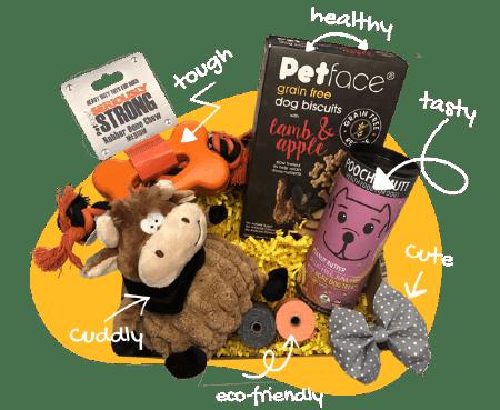 Ultimutt box full of pet toys