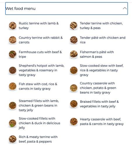 Tails.com-wet-food-menu
